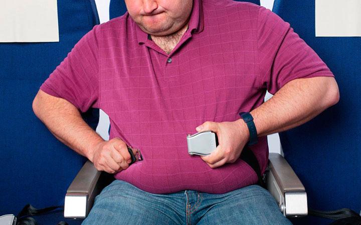 Мужчина с избыточным весом