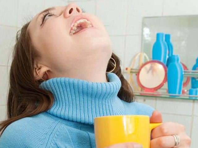 Полоскание полости рта