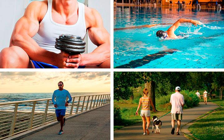 Занятия спортом помогут избавиться от лишних килограммов и нормализуют состояние организма