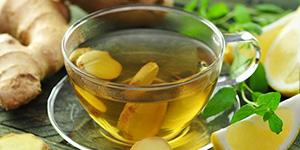 Полезный чай с имбирем лимоном