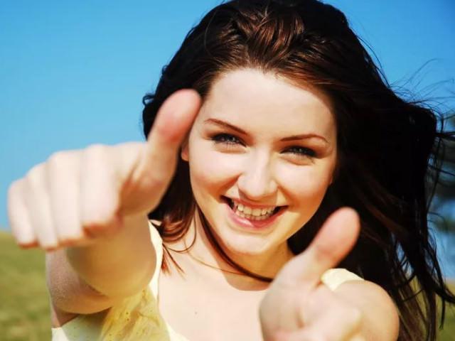 Позитивная девушка