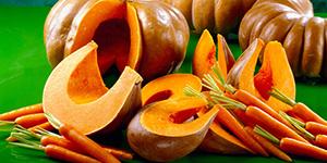 Тыква и морковь