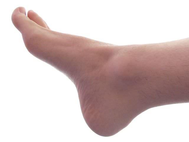 Размещение лодыжки на ноге