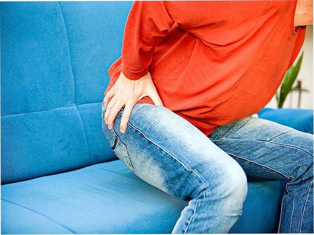 Больной сустав в области таза