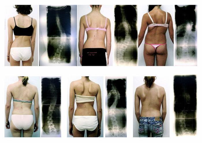 спины девушек