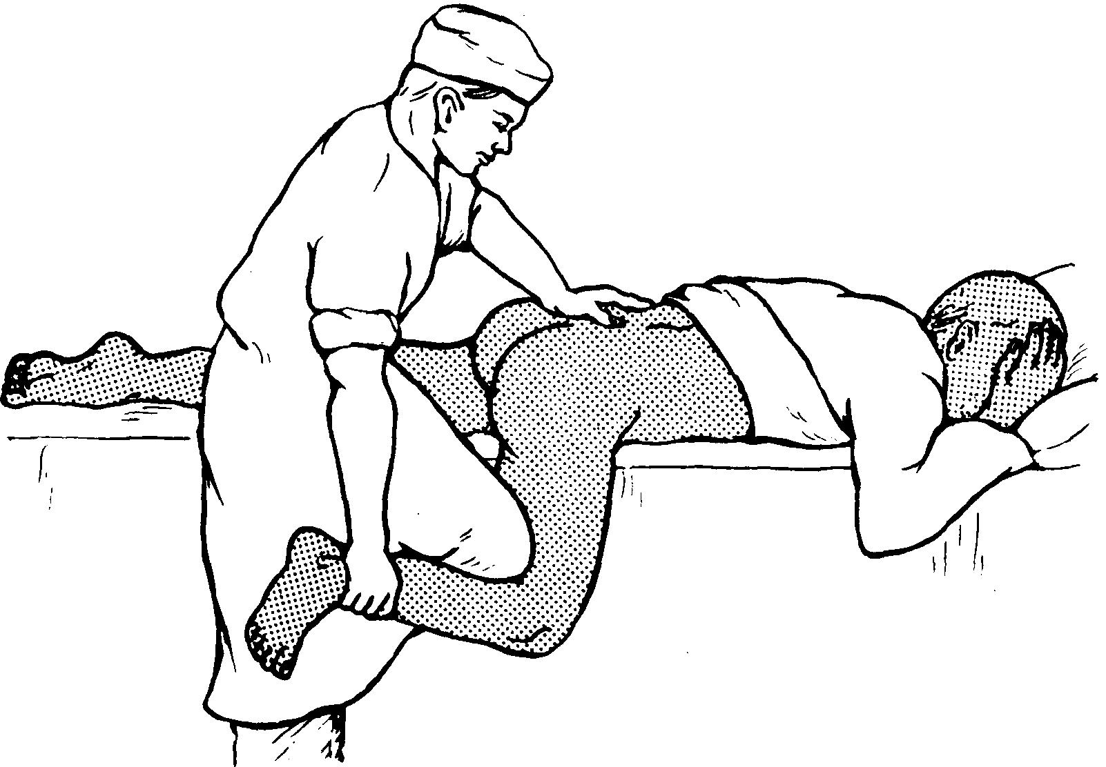 Обследование больного с вывихом