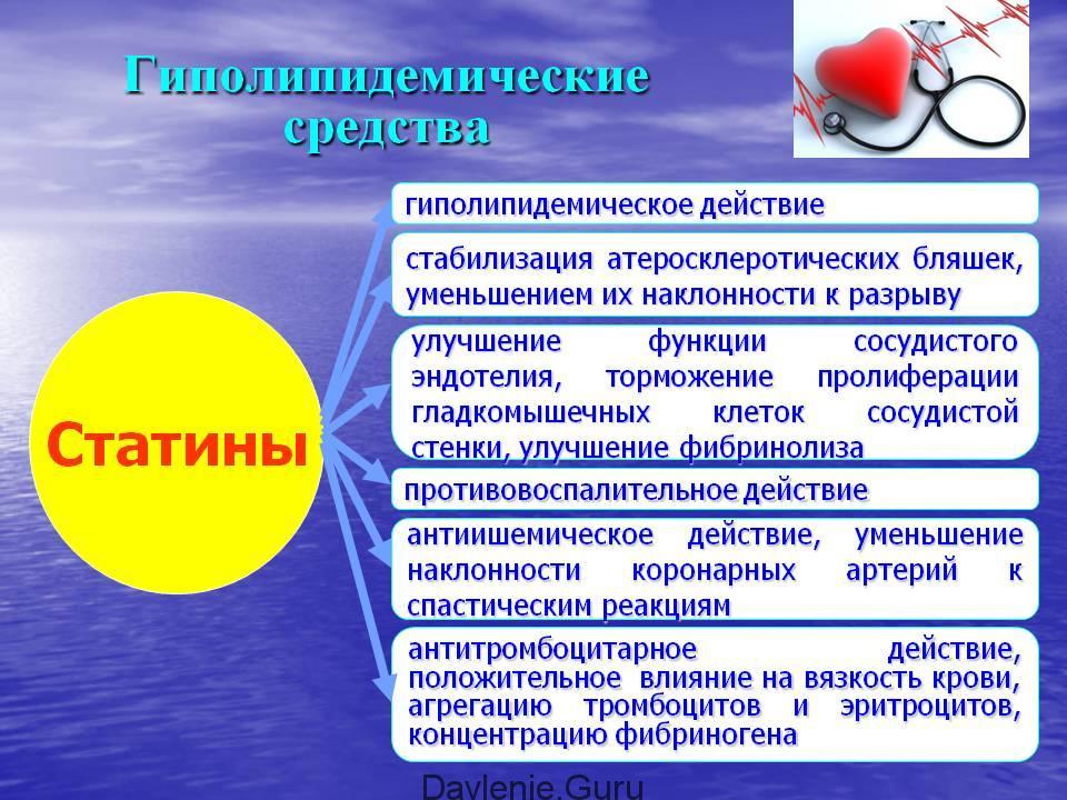 Гиполипидемические статины